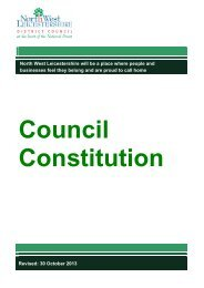 The Council's Constitution - North West Leicestershire District Council