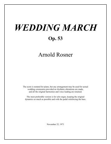 Rosner - Wedding March, op. 53