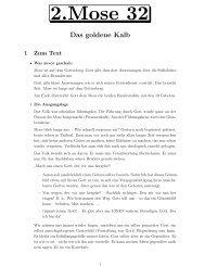 2.Mose 32 - um die Kinderkirche