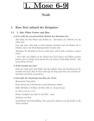 1. Mose 6-9 - um die Kinderkirche