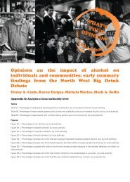 Opinions on the impact of alcohol on individuals and communities ...