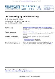 Jet sharpening by turbulent mixing - University of St Andrews