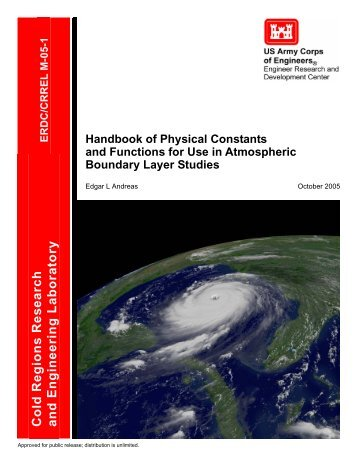 Handbook of Physical Constants and Functions for Use in ...