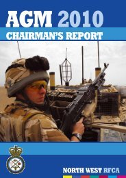 chairman's report - NWRFCA - Northwest Reserve Forces & Cadets ...