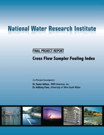 Cross Flow Sampler Fouling Index - National Water Research Institute