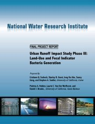 Urban Runoff Impact Study Phase III - National Water Research ...