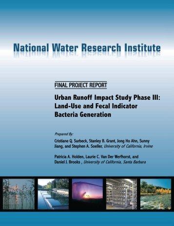 Urban Runoff Impact Study Phase III - National Water Research ...