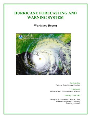 hurricane forecasting and warning system - National Water ...