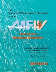 Membrane Bioreactors Short Course Abstracts - National Water ...