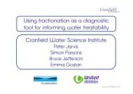 Cranfield Water Science Institute Using fractionation as a diagnostic ...