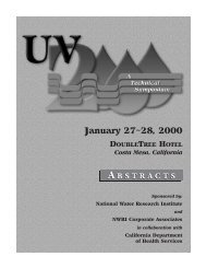 NWRI UV 2000: A Technical Symposium Abstracts - National Water ...