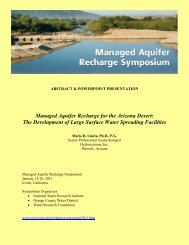 Managed Aquifer Recharge for the Arizona Desert - National Water ...