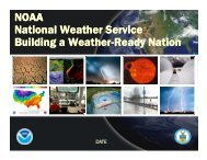 NOAA National Weather Service Building a Weather-Ready Nation ...