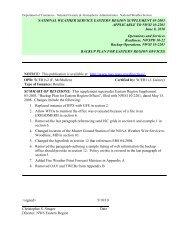 Backup Plan for Eastern Region Offices - NOAA