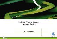 National Weather Service Annual Study - NOAA