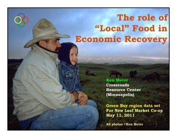 """The role of """"Local"""" Food in Economic Recovery"""