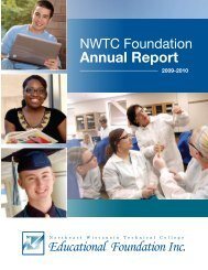 NWTC Foundation Annual Report - Northeast Wisconsin Technical ...