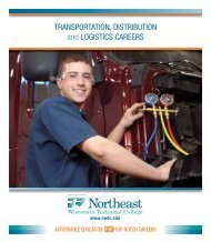 TransporTaTion, DisTribuTion and LogisTics careers - Northeast ...