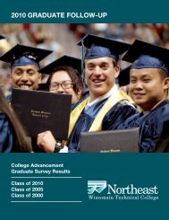 2010 graduate follow-up - Northeast Wisconsin Technical College