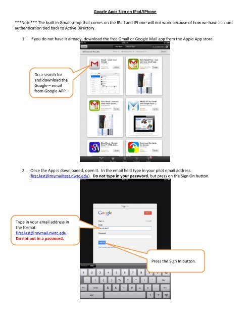 Google Apps Signon IPad docx
