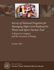 Survey of National Programs for Managing High-Level Radioactive ...