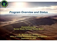 Margaret Chu - US Nuclear Waste Technical Review Board
