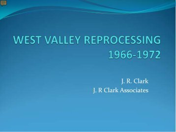 J.R. Clark - US Nuclear Waste Technical Review Board