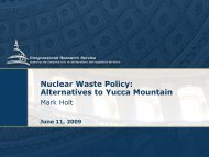 Alternatives to Yucca Mountain - US Nuclear Waste Technical ...