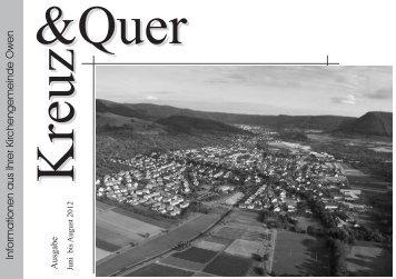 Inhalt - Evangelische Kirchengemeinde Owen