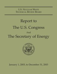 Report to the US Congress & The Secretary of Energy - US Nuclear ...