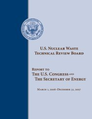 2007 Report - US Nuclear Waste Technical Review Board