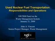 John A. Vincent - US Nuclear Waste Technical Review Board