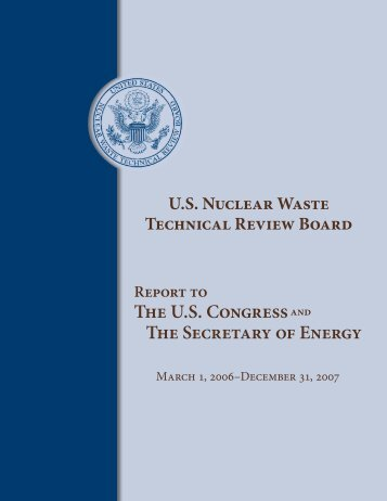Report to The U.S. Congress and The Secretary of Energy
