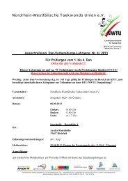 08.09.2013 - NWTU - Nordrhein Westfälische Taekwondo Union