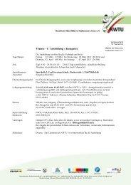 Ausschreibung - NWTU - Nordrhein Westfälische Taekwondo Union