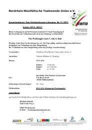 Nordrhein-Westfälische Taekwondo Union e.V. - NWTU - Nordrhein ...