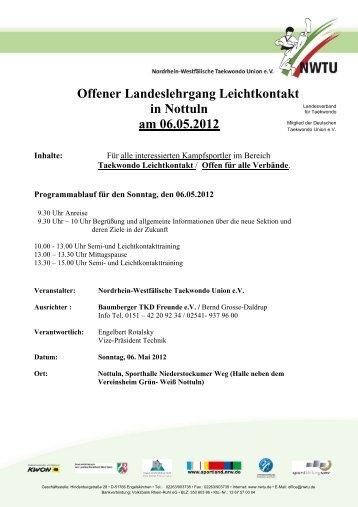 Offener Landeslehrgang Leichtkontakt in Nottuln am 06.05.2012