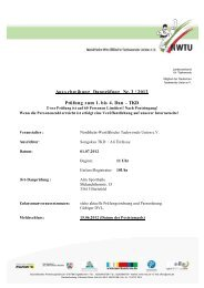 Ausschreibung Danprüfung Nr. 3/ 2012 Prüfung zum 1. bis 4. Dan ...