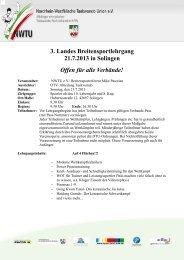 21.07.2013 3. Offener Breitensportlehrgang in Solingen