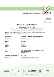 DVL 5/2012 in Dortmund - NWTU - Nordrhein Westfälische ...