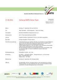 17.09.2011 Sichtung NWTU Demo Team - NWTU - Nordrhein ...