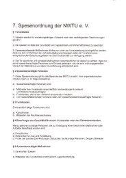 7 . Spesenordnung der NWTU e. V. - NWTU - Nordrhein ...