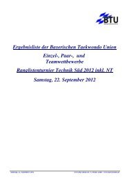 Klassen Auswertung - NWTU - Nordrhein Westfälische Taekwondo ...
