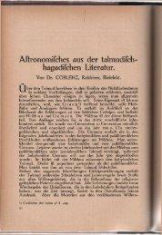 COBLENZ (1911): Astronomisches aus der talmudisch-hagadischen ...