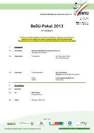 BeDü-Pokal 2013 In Velbert - MA RegOnline