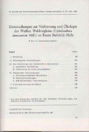 Untersuchungen zur Verbreitung und Ökologie des Weißen ...