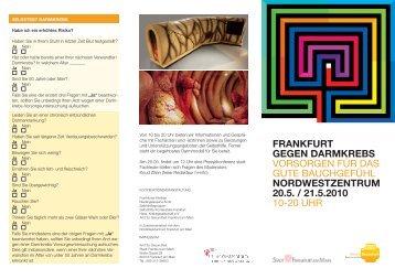 frankfurt gegen darmkrebs vorsorgen für das ... - NordWestZentrum