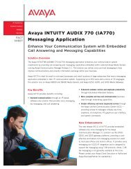 Avaya INTUITY AUDIX 770 (IA770) Messaging Application