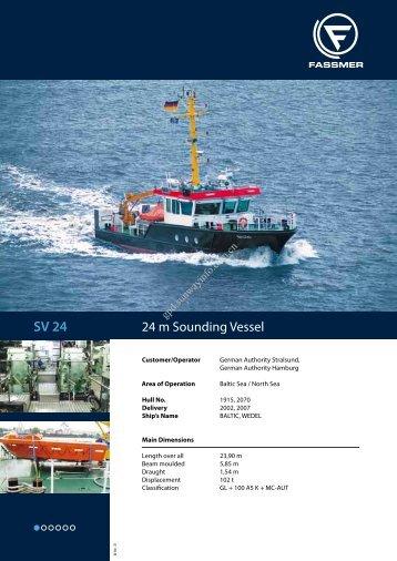 24 m Sounding Vessel