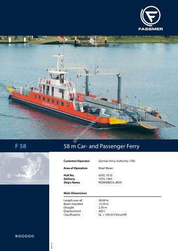 58 m Car- and Passenger Ferry